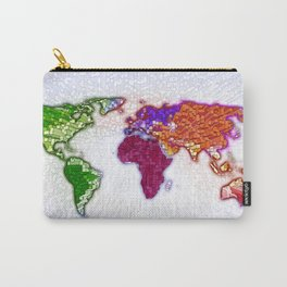 3d world map Carry-All Pouch