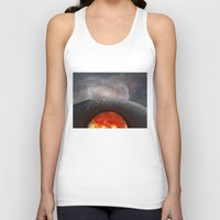 the moon Tank Tops featuring Moon by Baris erdem