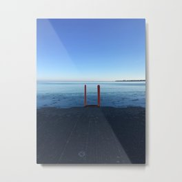 Lake Michigan in Winter, Chicago Metal Print