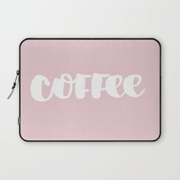 Pink Coffee Laptop Sleeve
