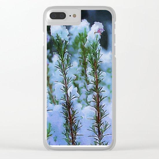 Snowy bush Clear iPhone Case