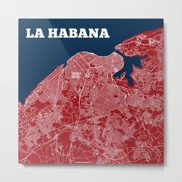 Havana Streets Map 2016 Metal Print
