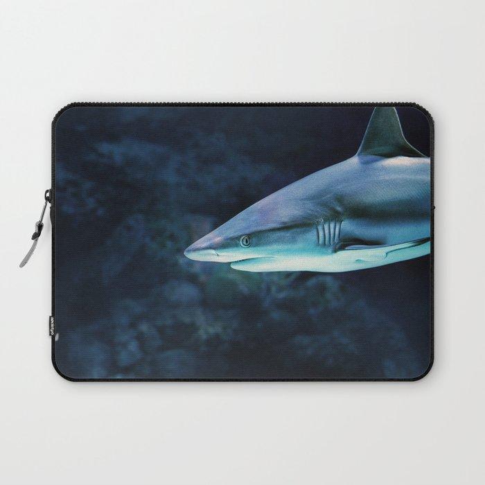 Gray Shark Head (Color) Laptop Sleeve