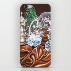 Still life study of Silver iPhone & iPod Skin