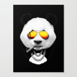 Cool Summer Panda Canvas Print