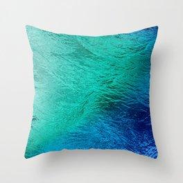 Ocean Sea Water Digital Art  Throw Pillow