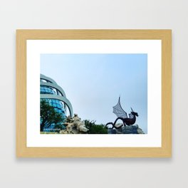 City Dragon Framed Art Print