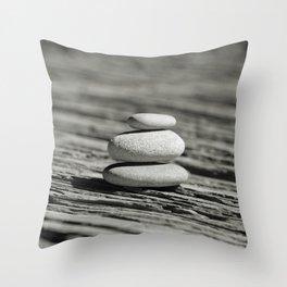 Stacked pebble Throw Pillow