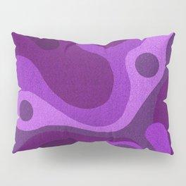 Groovy Psychedelic Purple Lava Shag Design Pillow Sham