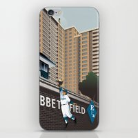 dodgers iPhone & iPod Skins featuring Ther Used to be a Ballpark Here by John W. Tomac