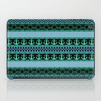 pirates iPad Cases featuring Geometric Pirates by Alice Gosling