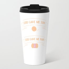 Asked for Happiness God Gave me Crochet T-Shirt Travel Mug