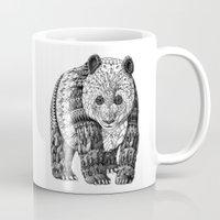 panda Mugs featuring Panda by BIOWORKZ