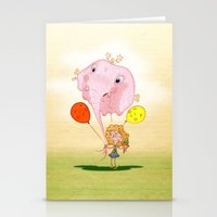 balloon Stationery Cards featuring balloon by José Luis Guerrero