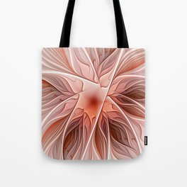 Flower Decoration, Abstract Fractal Art Tote Bag