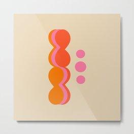 Uende Sixties - Geometric and bold retro shapes Metal Print