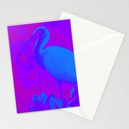 Purple White Ibis Stationery Cards