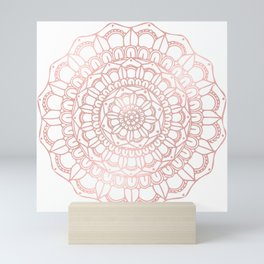 Rose Gold Boho Mandala Mini Art Print