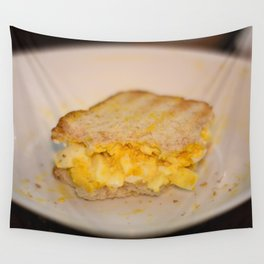 Egg salad with Oatmeal Toast Wall Tapestry