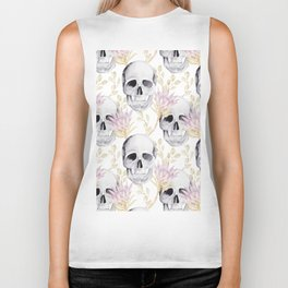 Floral skull glam Biker Tank