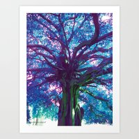 arya Art Prints featuring Arya - The Tree of Life by earthspiritartdesign