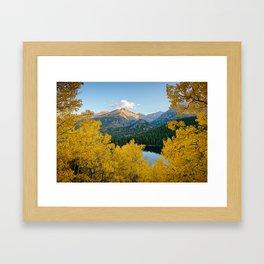 BEAR LAKE COLORADO AUTUMN PHOTO - ROCKY MOUNTAIN NATIONAL PARK FALL IMAGE- LANDSCAPE PHOTOGRAPHY Framed Art Print