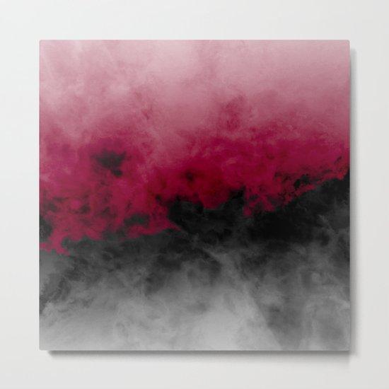 Zero Visibility Crimson Metal Print