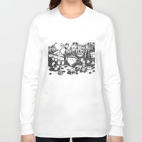 coffe Long Sleeve T-shirts featuring Smile coffe by Kisava NiCh