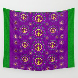 Peace be with us in love and understanding Wall Tapestry