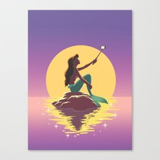 The Little Mermaid - Ariel Selfie Canvas Print