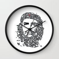 che Wall Clocks featuring Che by Rucifer