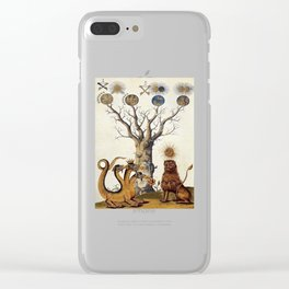 3 Headed Dragon and Lion - Garden of Beasts Collection Clear iPhone Case