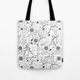 Fox and Bird Tote Bag