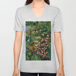 A Dar-jeeling Oak Festooned with Flowering Climbers still life painting Unisex V-Neck