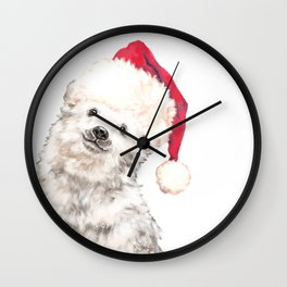 Christmas Baby Polar Bear Wall Clock