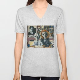 X-Files - Agent Grey Unisex V-Neck