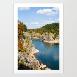 Autumn on the Potomac River Art Print