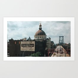 Williamsburg Savings Bank Meets Peter Luger Art Print