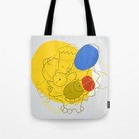 simpsons Tote Bags featuring Simpsons Van D'oh by Jason Adams