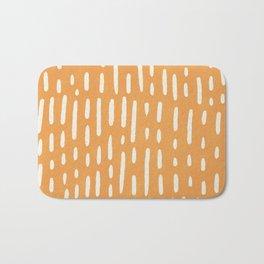minimalist series: scandi lines, orange Bath Mat