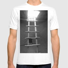 Down in the Kiva BW Mens Fitted Tee White MEDIUM