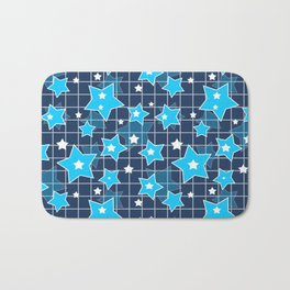Light blue stars Bath Mat