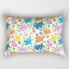 watercolor spring flower pattern Rectangular Pillow