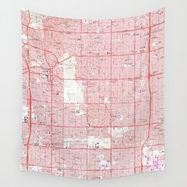 Vintage Map of Inglewood California (1964) Wall Tapestry