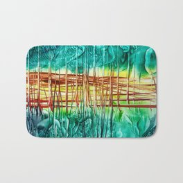 Two choices/ Jump over the Fence, Encaustic Bath Mat
