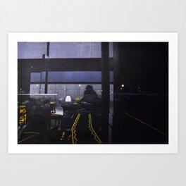 Candle-lit E Art Print