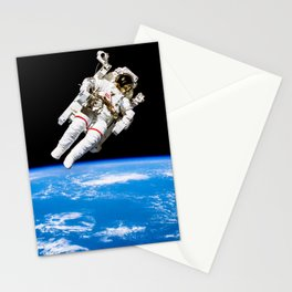 Astronaut Bruce McCandless Floating Free Stationery Cards