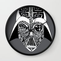 celtic Wall Clocks featuring Celtic Vader by ronnie mcneil