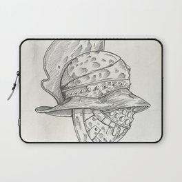 Roman helmet. Zentangle stylized. Vector illustration. Pattern. Laptop Sleeve