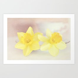 Buttercream Daffs Art Print
